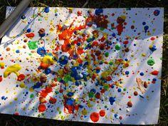 L'école à la maison dans notre quotidien: A la façon de ... Jackson Pollock
