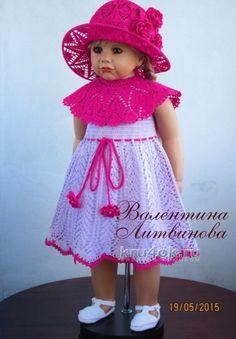 Платье - трансформер и шляпка для девочки вязание и схемы вязания