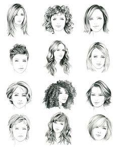 Face Drawing Illustration by Lidia Luna - Hairstyle drawing examples for fashion sketching Fashion Illustration Hair, Hair Illustration, Illustration Inspiration, Pencil Art Drawings, Art Drawings Sketches, Drawing Faces, Hair Drawings, Fashion Design Drawings, Fashion Sketches