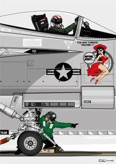 Us Navy Aircraft, Ww2 Aircraft, Fighter Aircraft, Aircraft Carrier, Cartoon Airplane, Airplane Art, Jet Fighter Pilot, Fighter Jets, Military Jets