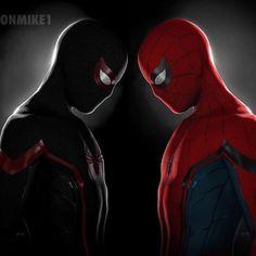 Miles Morales or Peter Parker? Spiderman Web, Spiderman Suits, Marvel Fan, Captain Marvel, Marvel Memes, Marvel Comics, Miles Morales, Marvel Wallpaper, Spider Verse