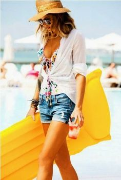 Beach Fashion With Shorts And Shades