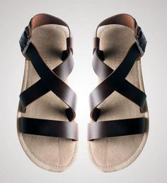 Fashion New Men s Real Leather Buckle Strap Roma Gladiator Beach Casual Sandals