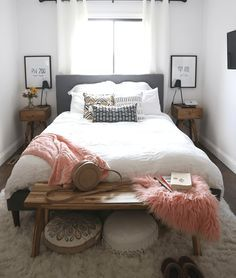 50 Small Bedroom Ideas That Inspires spare bedroom ideas, small living room decor, small bathroom ideas decorating, small space liv. Small Girls Bedrooms, Small Master Bedroom, Guest Bedrooms, Bedroom Ideas For Small Rooms For Adults, Bedroom Girls, Budget Bedroom, White Bedroom, Master Bedrooms, Diy Bedroom