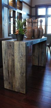 Reclaimed Wood Console/Media Center/End Table modern-living-room