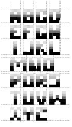 bitmap typography | ... type designers type designers colombian type design pixel bitmap fonts