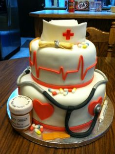 Nursing School Graduation by Boise Cakewalk Custom Cakes, via Flickr