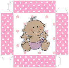 Cajitas imprimibles de bebitas 2. | Ideas y material gratis para fiestas y celebraciones Oh My Fiesta! Printable Box, Free Printables, Candyland, Guppies, Imprimibles Baby Shower, Oh My Fiesta, Baby Makes, Baby Art, Minnie