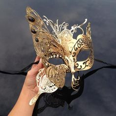 This item is unavailable Sweet 16 Masquerade, Venetian Masquerade Masks, Masquarade Mask, Butterfly Mask, Quince Dresses, Formal Dresses, Laser Cut Metal, Henna Patterns, Eye Art