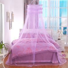 Wholesale Deluxe Princess Palace dome mosquito net hanging nets ceiling bed mantle Bill door for girls/kids-in Mosquito Net from Home & Garden on Aliexpress.com | Alibaba Group