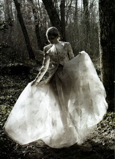 Valentino Haute Couture.Marie Piovesan By Deborah Turbeville For Vogue Italia.March 20122