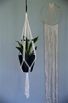 Plante en macramé cintre tenture intérieure pot de 30