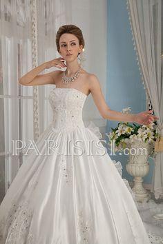 vestidos de novia Catedral Tren Drapeado Flors Sin Mangas Sin tirantes Corazón Organza satén Blanco