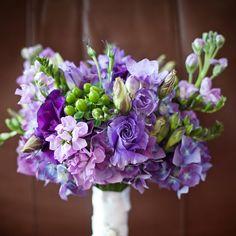 Purple bridesmaids' bouquet