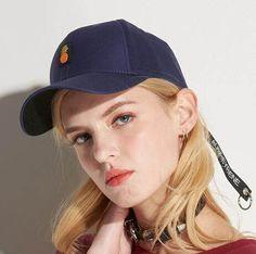 Hip hop pineapple baseball cap for women UV protection sun hat