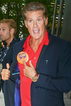 International superstar David Hasselhoff was seen at the BGC Annual Global Charity Day at Churchill Place Canary Wharf in London, UK on September 11th. Thanks for helping out in that Baywatch red shirt, David!