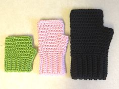 Simple Fingerless Gloves for the Family ~ free pattern