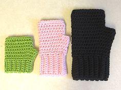 Simple Fingerless Gloves for the Family ~ free pattern