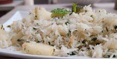 Receta de cocina: Arroz frito con piña