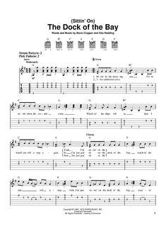 Digital Sheet Music for (Sittin' On) The Dock Of The Bay by Otis Redding,Steve Cropper, scored for Easy Guitar Tab, Guitar Tabs Acoustic, Easy Guitar Tabs, Guitar Chords For Songs, Guitar Sheet Music, Ukulele Tabs, Guitar Tips, Piano Sheet, Simple Guitar, Music Sheets