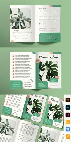 Save your money and get this product as a part of such bundles: - Flower Shop Print Pack – - Business Proposal Brochure Templates – - Entire Shop Bundle – Magazine Cover Layout, Magazine Layout Design, Book Design Layout, Magazine Layouts, Corporate Brochure Design, Brochure Layout, Brochure Template, Yearbook Pages, Yearbook Layouts