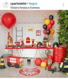 2nd Birthday Party Themes, Baby Boy Birthday, Boy Birthday Parties, 3rd Birthday, Fireman Party, Firefighter Birthday, Fireman Sam, Fireman Kids, Decoration