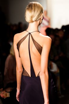 Sexy open back black gown from Sophie Theallet.