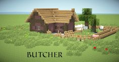 Small butcher's shop built in Minecraft. This is small but effective.