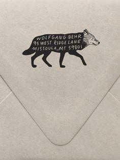 Wolf Return Address Custom Stamp | Sycamore Street Press
