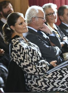 Royals & Fashion - Princess Victoria attended a meeting of the WWF in the company of King Carl Gustaf in Stockholm.