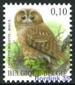 3956 - Vogels - Bosuil - 0,10 - André Buzin - WITTE gom