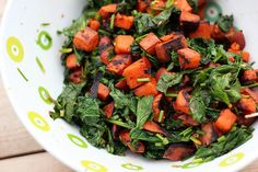 Grilled Sweet Potato and Wilted Kale Salad - Gluten-free + Vegan by tastyyummies #Salad #Kale #Sweet_Potato
