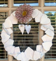 Shabby wooden wreath