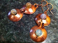 Copper Earrings Made from Pennies JUNIPER BREEZE - Art Jewelry Magazine - Jewelry Projects and Videos on Metalsmithing, Wirework, Metal Clay...