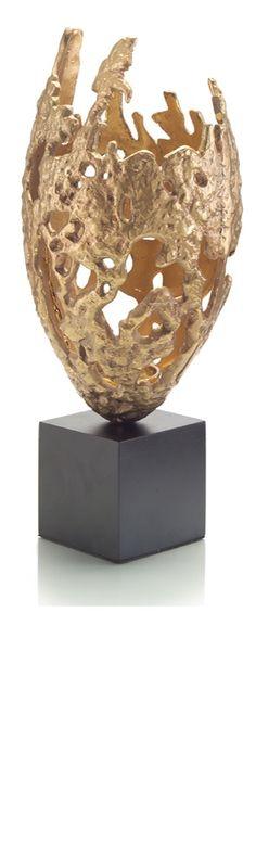 Luxury Wedding Gift Ideas, Designer Modern Art Cast Brass Candle Holder, so…