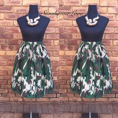 Camo Gathered Skirt #SunshowerLove