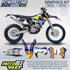 86.43$  Buy now - http://aliotj.worldwells.pw/go.php?t=32324551552 -  Custom Team Graphics & Backgrounds Decals 3M RB Stickers Kit For 2014 15 16 17 Husqvarna FE TE FC TC 125 250 300 350 450