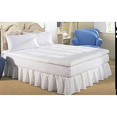 $80 Dream On  Reversible Quilted Cotton Featherbed