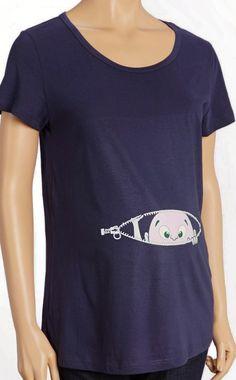 Maternity Baby Peeking Shirt