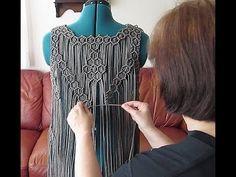 Fun & positive – Top Of The World Macrame Dress, Macrame Bag, Macrame Knots, Macrame Jewelry, Macrame Design, Macrame Patterns, Diy Dress, Clothing Patterns, Diy Clothes