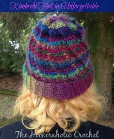 This free crochet hat pattern was designed with Unforgettable yarn by Red Heart and was designed by The Hookeraholic Crochet, exclusively for Cre8tion Crochet