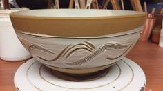 "Late night studio sesh. Decorating some of Corey's ""wind"" bowls.  #inthestudio #ceramicstudio #clay #ceramics #ceramicist #ceramicart #artist #terracotta #porcelain #wheelthrown #pottery #contemporaryceramics #australianceramics #handmade #bowl #tableware #earthenware #nothingisordinary #simpleliving #makersmovement #lifestyle #slowliving #chantalandcorey #céramique #cerámica #keramiek #Keramika #陶瓷 #セラミックス #陶器"