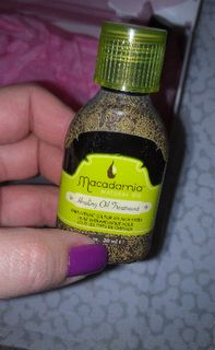 Finally, saving the best for last, we got the Macadamia Natural Oil treatment. We love hair treatments...we love Macadamia Oil...and this is a dream product!