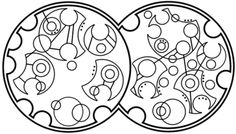 """The hoper of far-flung hopes // The dreamer of improbable dreams"" written in circular Gallifreyan"