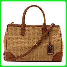 LAUREN Ralph Lauren Women's Clifton Double Zip Satchel Natural/Lauren Tan none none - Top handle bags (*Amazon Partner-Link)