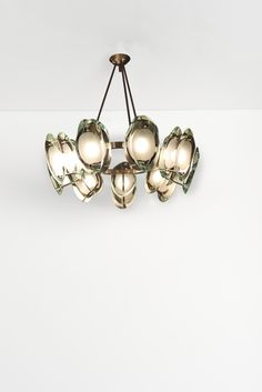 Max Ingrand; #2088 Crystal and Nickel-Plated Brass Ceiling Light for Fontana Arte, c1960.