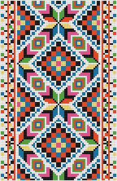 Risultati immagini per mochila bag crochet pattern free Cross Stitch Borders, Cross Stitching, Cross Stitch Embroidery, Embroidery Patterns, Cross Stitch Patterns, Tapestry Crochet Patterns, Bead Loom Patterns, Bracelet Patterns, Crochet Chart