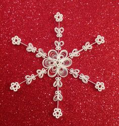 Paper Snowflake Quilled Snowflake Ornament by HennyPennyCollection on Etsy