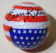 Peter Fonda Easy Rider Signed Signature Sturgis, SD Patriotic US Flag Golf Ball