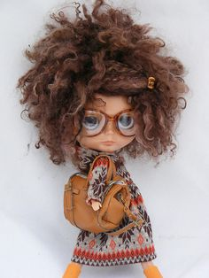 favorite Blythe so far Pretty Dolls, Cute Dolls, Beautiful Dolls, Ooak Dolls, Blythe Dolls, Barbie Dolls, Black Women Art, Little Doll, Ball Jointed Dolls
